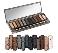 High Quality NUDE Smoky Smoky EYESHADOW palette de maquillage Date 12 couleurs de maquillage cosmétiques Shimmer Matte Eye Shadow avec la brosse