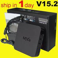 Kodi 15.2 mxq tv boîte amlogic s805 quad core mxq tv boîte pleine hd 1080p vidéo android tv boîte set-top box télécommande libre dhl OTH035