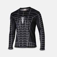 2015 new men t shirt spider- man long sleeve t- shirt men&#039...