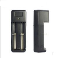 Double Dual Dry Battery Chargers 18650 18350 16450 Battery C...