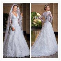 Lace Wedding Dresses sexy custom made vestido de noiva see t...