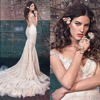 2016 Sexy Galia Lahav Spring Lace Mermaid Wedding Dresses Ne...
