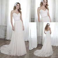 Hot Selling Lace Tulle Wedding Dresses 2016 A Line Applique ...