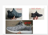 drop ship shoes boost 350 Full Black cheaper shoes Boost Low...