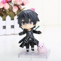 Free Shipping Cute Nendoroid 10M Sword Art Online Kirito PVC...