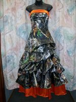 Pick Up Camo Wedding Dresses Strapless Real Tree Camouflage ...