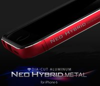 iPhone 6 6+ Case DIA- Cut Aluminum Neo Hybrid Metal Bumper Fr...