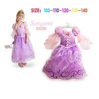 Fantasia Vestidos Children Kids Girl Cosplay Dresses Rapunze...
