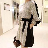 2015 Autumn Winter Women Clothes Korean Style Contrast Color...