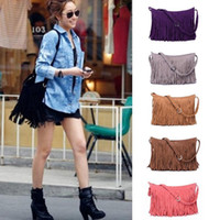 Hot Faux Suede Women' s Shoulder Bags Tassel Fringe Bag ...