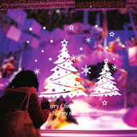 Рождественская елка Happy New Year vinly ПВХ окна стикер DIY искусства рисунок дом номер наклейки на стены украшения