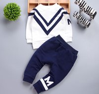 2016 Spring Autumn Girls Letter Pullover Tops Pants Casual S...