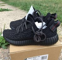 With Box boost 350 black boost Kanye West running shoes Spor...