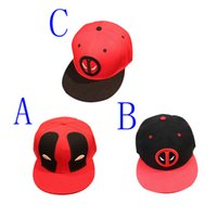 Retail 2016 Comic Marvel Deadpool Hats Snapback High Quality...
