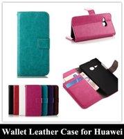 Negocio del teléfono móvil de la PU caso titular Cartera de cuero tarjeta de crédito la cubierta del soporte del tirón para el Huawei Ascend Y530 P7 para NOKIA Lumia 520 530