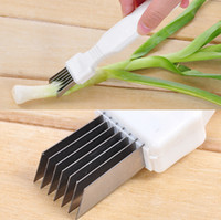Green Spring Onion Vegetable Shredder Slicer Cutter Easy Han...
