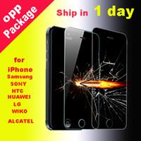 Pour Iphone 7 plus 6 plus écran en verre trempé Protector 0.26mmTreated en verre pour iPhone 4 5 samsung galaxy S5 dhl gratuitement SSC012