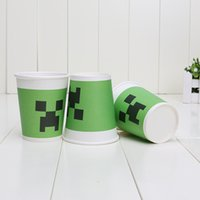 Minecraft Paper Cups Toys Cartoon Figures Creeper Face Drink...