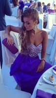 2016 New Arrive Blue Purple Red Black Crystal Pageant Gowns ...