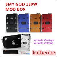 SMY Бог 180W Box Mod 5W-180W самый мощный Mod Электронные сигареты E Cig Fit Atty Little Boy Black Horse RDA Форсунка 180W BOX MOD Instock