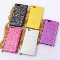 Housse de luxe pour téléphone portable Bling Bling Diamond Diamond pour téléphone 6 4.7 6 Plus 5.5
