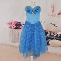 2015 Ice Blue Cinderella Movie Dresses Frozen dresses butter...