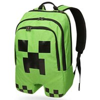 NEW!!! Minecraft backpack game creeper backpack children sch...