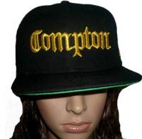 2015 COMPTON 3D EMBROIDERED FLAT BILL BLACK SNAPBACK BASEBAL...