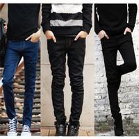 wholesale 2016 Fashion Style Pencil Skinny Jeans Men Slim Fi...