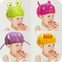 Cute Cartoon Shower Waterproof Bath Bathing Cap Hat for Wome...