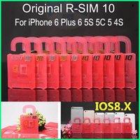 R-SIM 10 RSIM10 R-sim10 Идеальный разблокировки SIM-карты Официальный IOS 6.x-8.x Оригинал RSIM 10 для Iphone 6 плюс I6 5S 5C 5 4S GSM CDMA WCDMA 3G 4G