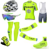 Tinkoff Saxo Fluo Yellow Tour De France Cycling Jerseys Shor...