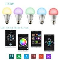 LIXADA RGBW LED intelligente E27 Smartphone controllato lampada Bluetooth luce con Download APPand Musica sincronizzazione Mic caratteristica L0573