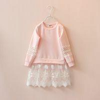 baby girl kids lace dress crochet dress sunflower princess f...