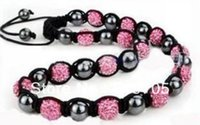 Vente en gros-Bijoux-Mode-Shamballa-Colliers-Nouveau-Shamballa-Colliers-Micro-Pave-CZ-Disco-Ball-Beads-Shamballa-Colliers pour la livraison gratuite