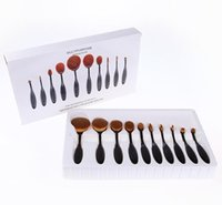Retail Make Up Oval Brushes Set Pro Beauty Toothbrush Shaped...