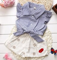 Baby Girls Children' s Summer Clothing Korean Lace Sleev...