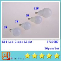 5730SMD Led Globe Light E14 5W 7W 9W 12W LEDS Led Light Bubb...