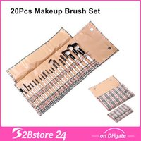 20pcs Goat Hair Makeup Brush Sets with Classic Grid Packing ...