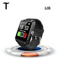 SmartWatch Bluetooth Смарт Часы U8 WristWatch цифровые спортивные часы для IOS Android Samsung телефонов носимого электронного устройства