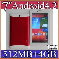 10X 7 pouces Android 4.2 3G phablet MTK6572 Dual Core 4 Go 512 Mo Dual SIM GPS Phone Call WIFI Tablet PC Bluetooth 3-7PB