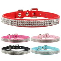 (5 colors 4 sizes ) Rhinestone dog collars Dimante bling col...