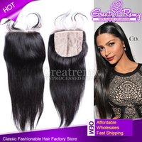100% Brazilian Virgin Human Hair Extensions Silkbase Closure...