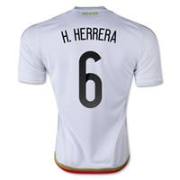 Mexico 2015 H. HERRERA #6 Away White Soccer Jersey, Cheap Mex...