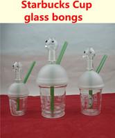 Tasse en verre bongs sablés de verre tuyaux d'arpentage de pétrole tuyaux d'eau et de clous de narguilé dôme bubbler