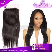 Free Part Brazilian Virgin Unprocessed Human Hair Lace Closu...