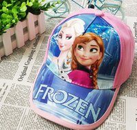 Baby Cartoon Frozen baseball cap Summer beret hat children&#...