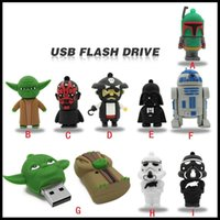 10pcs 4GB- 32GB Cartoon 3D Star Wars Darth Vader Shape USB Fl...