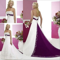Wholesale Purple And White Wedding Dresses - Buy Cheap Purple And ...