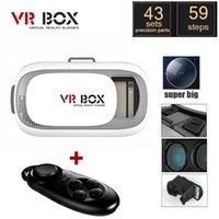 2016 Google картон VR BOX II 2.0 Версия VR Виртуальная реальность 3D очки для 3,5 - 6,0-дюймовый смартфон + Bluetooth Controller 1.0